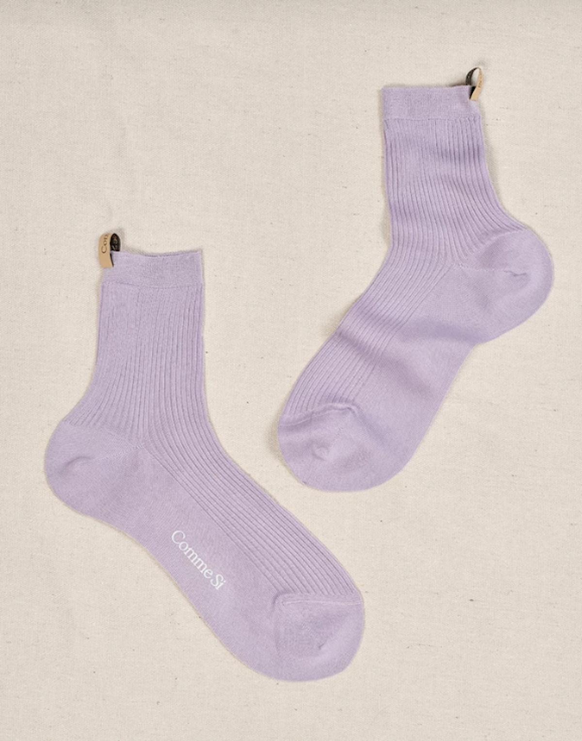 Cotton Lilac Socks