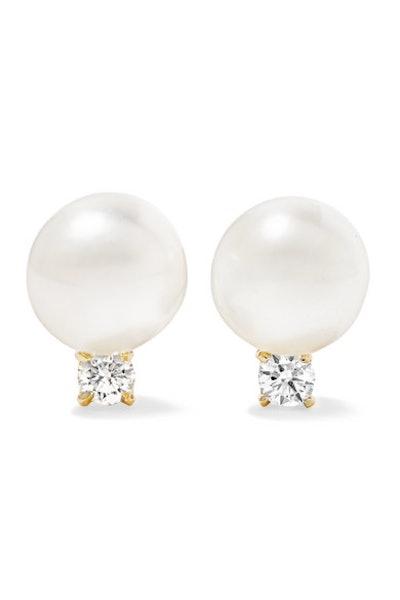 18-karat Gold, Pearl And Diamond earrings