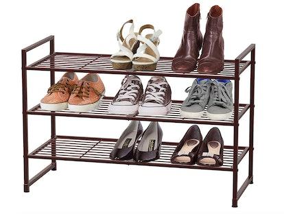 Simple Houseware 3-Tier Stackable Shoes Rack Storage Shelf