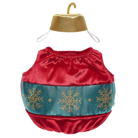 Red ornament costume, 2-piece