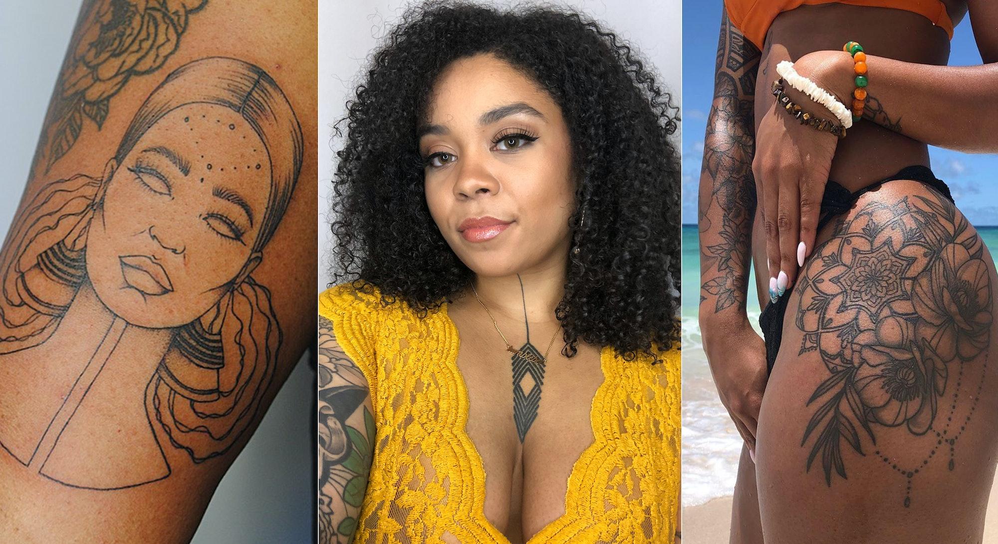 Toronto based tattoo artist Brittany Randell aka @humblebeetattoo.