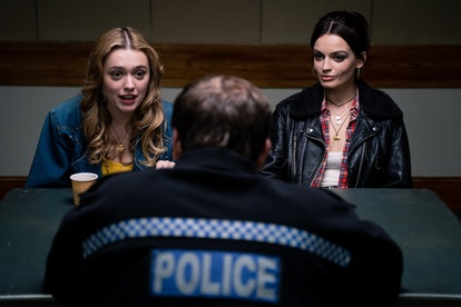 Aimee and Maeve have a run-in with a police officer during season 2 of Sex Education