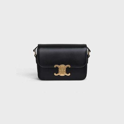 Teen Triomphe Bag In Shiny Calfskin