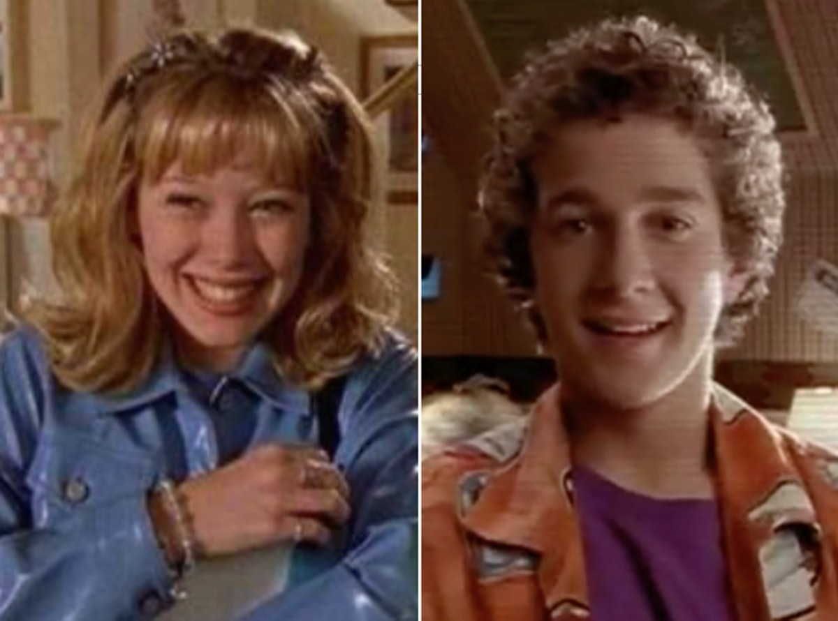 Lizzie Mcguire (Hilary Duff) and Louis Stevens (Shia Labeouf) in their Disney Channel series