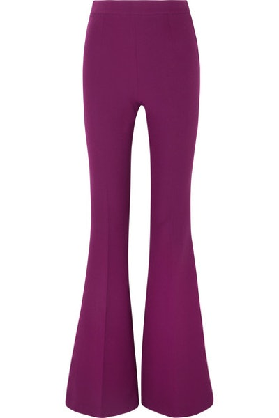 Halluana Stretch-Crepe Flared Pants