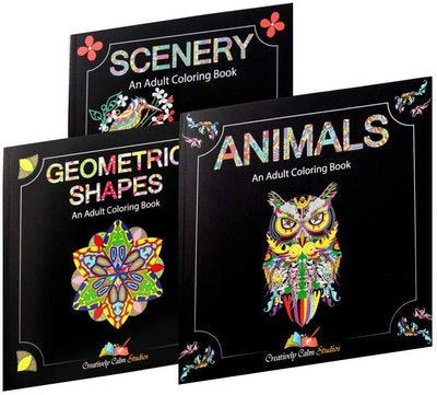 Adult Coloring Books (3-Pack)