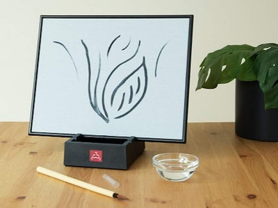 BUDDHA BOARD: Water Painting with Bamboo Brush & Stand