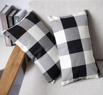 Farmhouse Buffalo Plaid Pillow Covers (2-Pack)