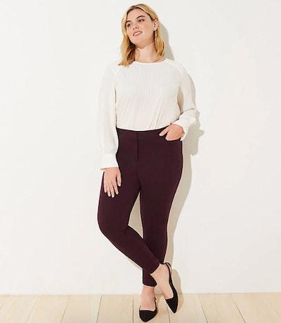 LOFT Plus Size Twill Skinny Ankle Pants