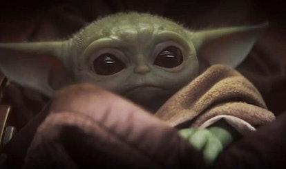 Baby Yoda seen in episode 1 of The Mandalorian on Disney Plus.