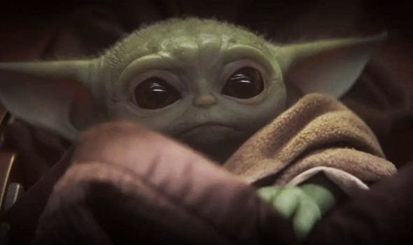 Baby Yoda seen in episode 1 of The Mandalorian on Disney Plus.