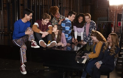The cast of High School Musical: The Musical: The Series singing and playing piano