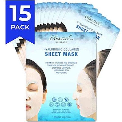 Ebanel Korean Collagen Facial Face Masks (15-Pack)