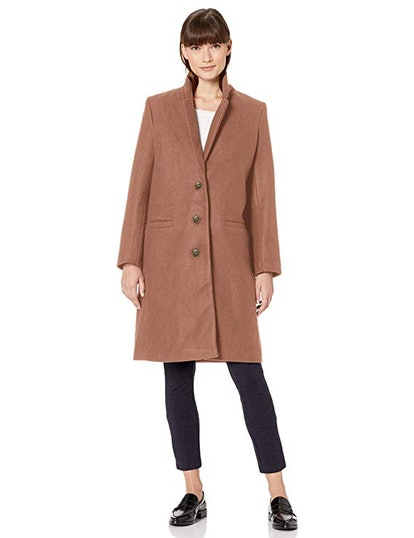 Amazon Essentials Women's Plush Button-Front Coat