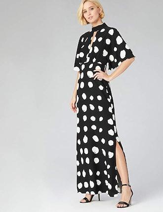 RUTH & FABLE Women's Standard Keyhole Maxi Evening Dress
