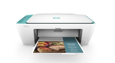 HP DeskJet 2640 All-in-One Wireless Color Inkjet Printer (White/Teal) - Instant Ink Ready