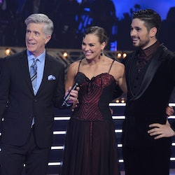 Hannah Brown and Alan Bersten in Week 9 of Dancing with the Stars.