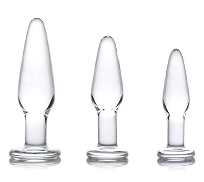 Dosha 3-Piece Glass Anal Plug Kit