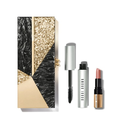Bobbi Brown x Edie Parker holiday set includes a clutch, mascara, and lipstick.