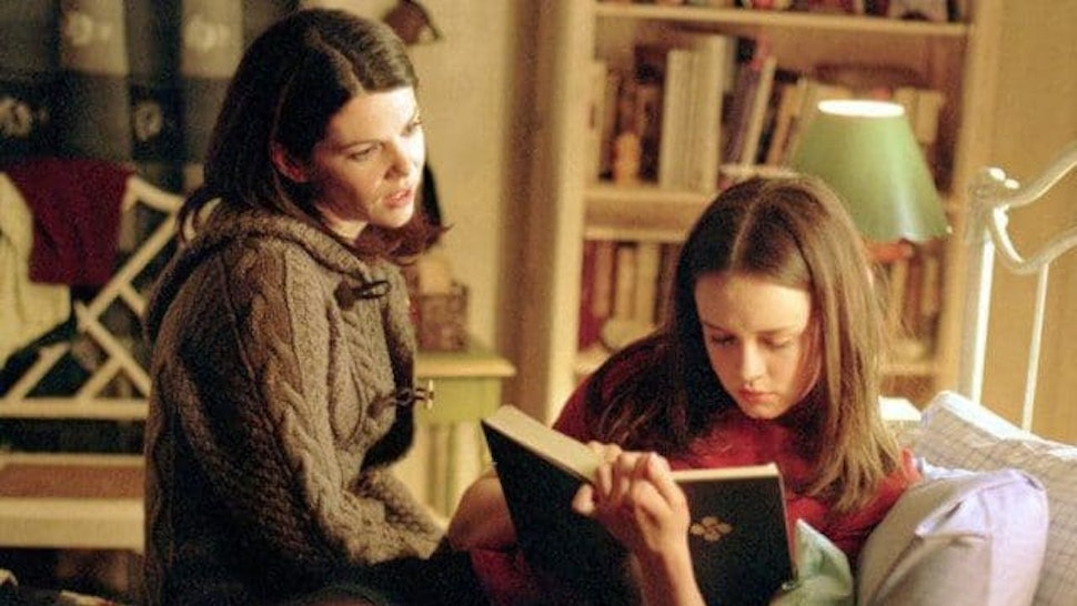 Rory Gilmore reading in Gilmore Girls
