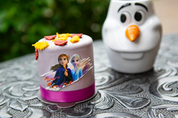 The Anna and Elsa Petit Cake is available at Disney Springs for the release of 'Frozen 2.'