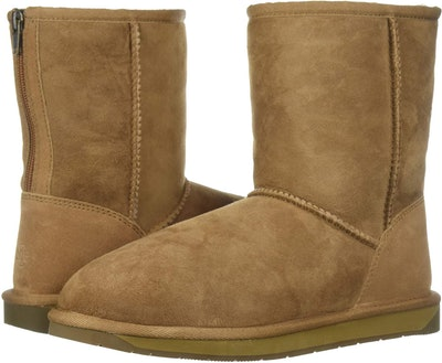 206 Collective Women's Balcom Short Back-Zip Shearling Ankle Boot