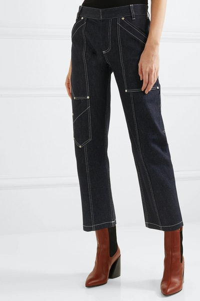 Cropped Hi-Rise Jeans
