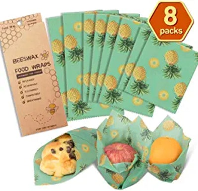 AwesomeWare Beeswax Wrap Reusable Food Wrap (8-Pack)