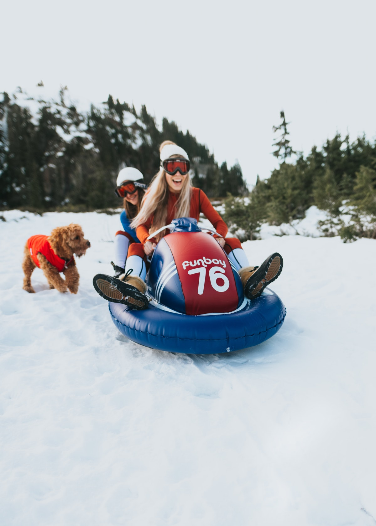 The new FUNBOY Snowmobile Sled for this winter can fit two people and withstand up to 25 below.