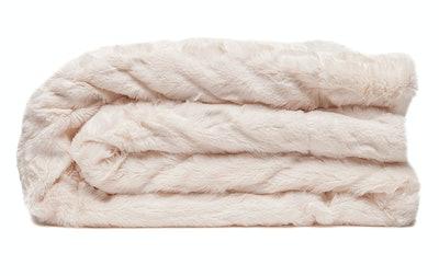 Chanasya Ruched Royal Luxurious Faux Fur Throw Blanket