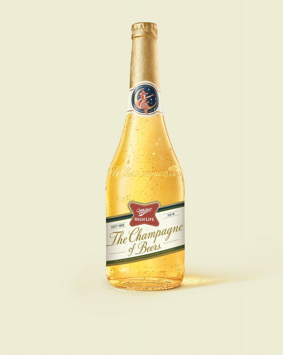 Miller High Life's Champagne Bottles For 2019 will appear in a vending machine across NYC this Decem...