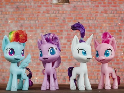 Series of pony characters from new 'My Little Pony' animated tv series launching in 2020 on Discovery Family Channel.