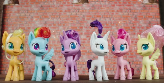 Series of pony characters from new 'My Little Pony' animated tv series launching in 2020 on Discover...