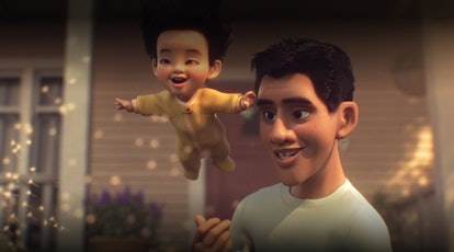 """Pixar's short film """"Float"""" on Disney+ will leave parents thinking about their impact on their childr..."""