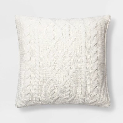 Threshold Cable Knit Chenille Throw Pillow