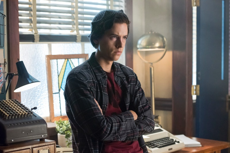Jughead with his arms crossed on Riverdale