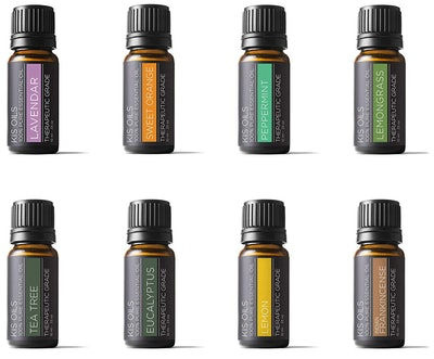 Kis Oil's Therapeutic Grade Essential Oil Gift Set (Set of 8)
