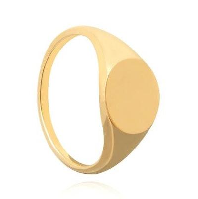 Basic 2.0 Large Signet Ring in Gold