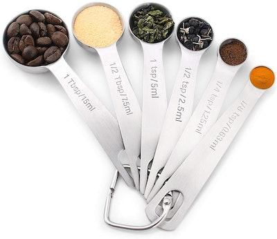 1Easylife Stainless Steel Measuring Spoons (Set of 6)