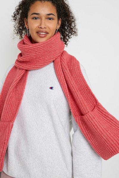 UO Knit Pocket Scarf