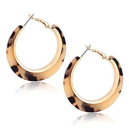 XOCARTIGE Acrylic Hoop Earrings