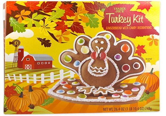 Image of a turkey cookie kit in bright oranges and greens