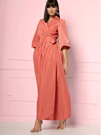 INGRID WRAP MAXI DRESS - EVA MENDES PARTY COLLECTION