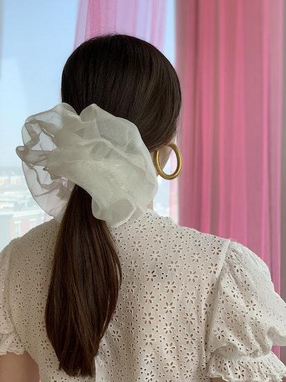 Cloud Scrunchie - White Cloud