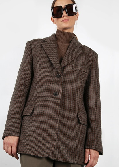 Brown Multi Plaid Blazer