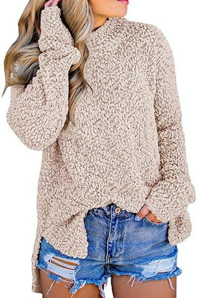 Imily Bela  Fuzzy Sherpa Fleece Sweater
