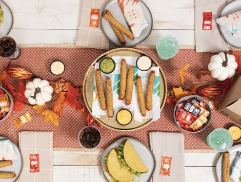 Taco Bell's Rolled Chicken Taco Party Pack is perfect for your Friendsgiving gathering.