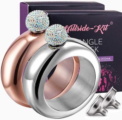 Hillside-Kit Booze Shot Flask Bangle Bracelet