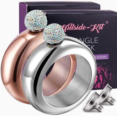 Hillside-Kit Booze Shot Flask Bangle Bracelet