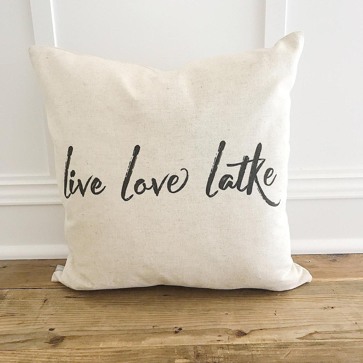 Live Love Latke Pillow Cover